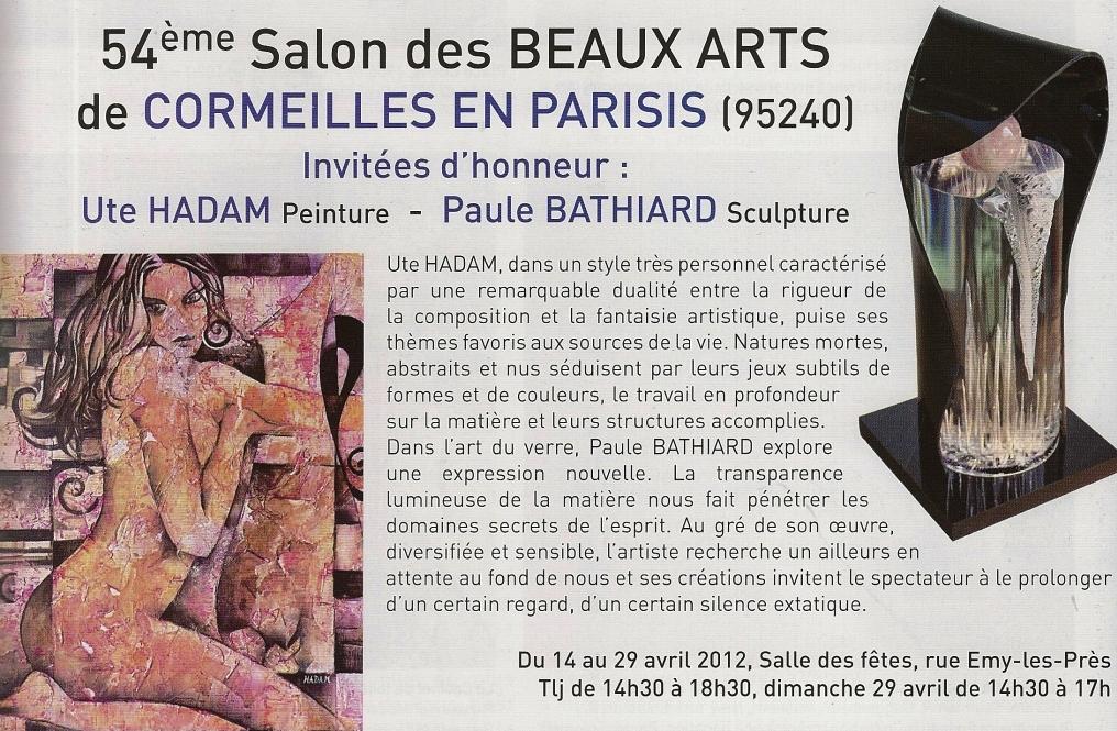 Ute hadam 54 me salon des beaux arts de cormeilles en for Salon des beaux arts